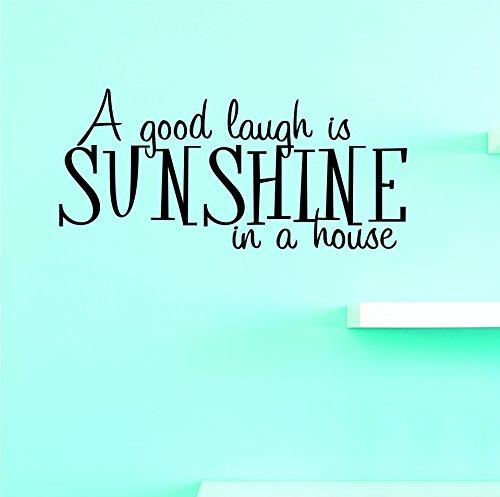 Motif Vinyle Avec 1 Recharges de 1960–1 Hot nouveaux autocollants d'un bon rire est Sunshine dans une maison Décoration murale Taille : 25,4 x 50,8 cm Couleur, 25,4 x 50,8 cm, Noir