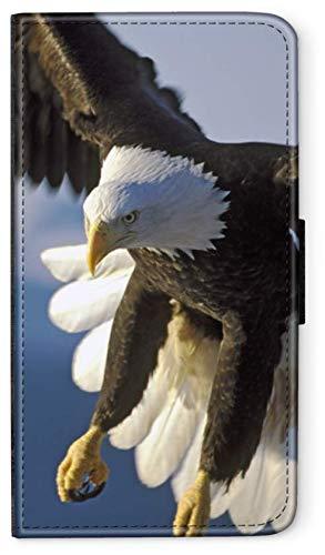 blitzversand Flip Hülle New York MANHATTEN Big kompatibel für iPhone XR Fliegender Adler Handy Hülle Leder Tasche Klapphülle Brieftasche Etui r& um Schutz Wallet M6