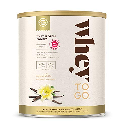Solgar - Whey To Go  Protein Powder Natural Vanilla Flavor 32 oz