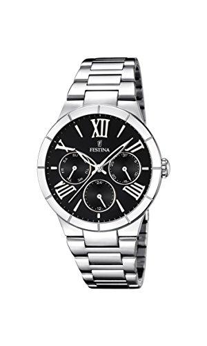 Festina Damen Analog Quarz Uhr mit Edelstahl Armband F16716/2