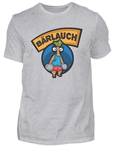 Camiseta de fitness para hombre de Bärlauch Lauch   entrenamiento muscular, Discopumper Gris (mezclado). XXXL