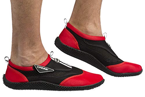 Cressi Unisex Reef Shoes Badeschuhe, rot (Schwarz/Rot), 48 EU