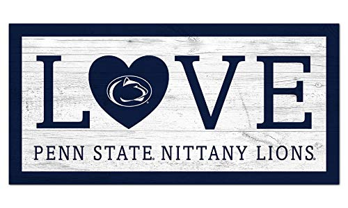 Fan Creations NCAA Penn State Nittany Lions Unisex Penn State University Love Sign, Team Color, 6 x 12