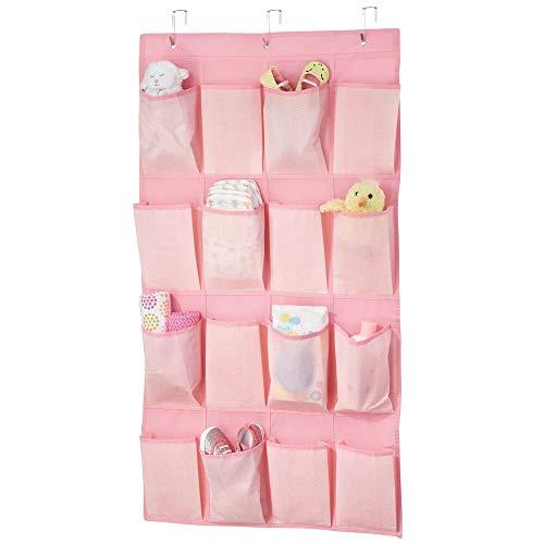 mDesign Organizador de almacenamiento para colgar en la puerta con 16 bolsillos profundos para habitación de niños/niños,...