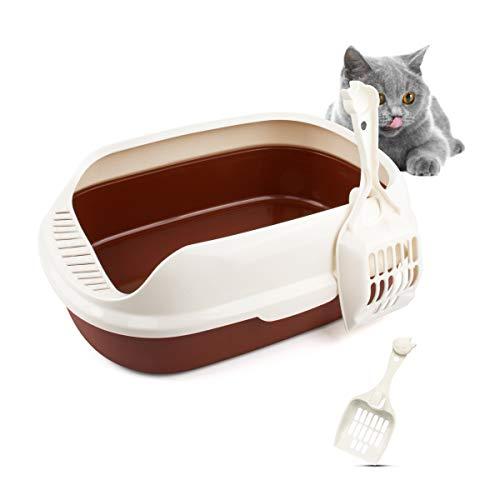 T-Buy Katzentoilette, Cat Katzentoilette,Halb Geschlossene Katzenstreu mit Schaufel Bruchsicher