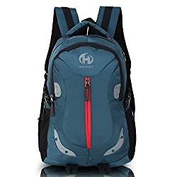 HEROZ Harbour Unisex Nylon 28 L Travel Laptop Backpack Water Resistant Slim Durable Fits Up to 17.3 Inch Laptop Notebook (153-ALL) (Air Force Blue),A. H. Creation,0153