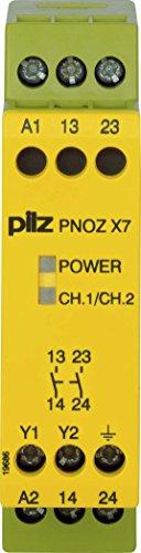 Pilz Not-Aus-Schaltgerät PNOZ X7#774049 48VAC 2n/o PNOZ X Gerät zur Überwachung von sicherheitsgerichteten Stromkreisen 4046548012392