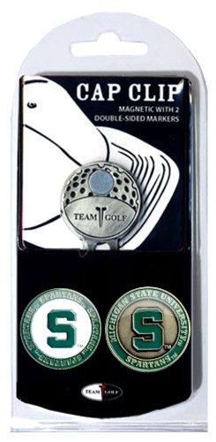 NCAA Cap Clip avec 2 Marqueurs de Balle de Golf, Homme Mixte Femme, Michigan State Spartans