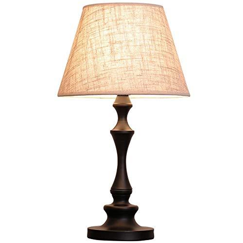 Lampada da tavolo vintage in rattan, lampada da tavolo antica creativa a LED in legno intagliato con decorazione Lampada da studio Lampada da tavolo for illuminazione da comodino con camera da letto