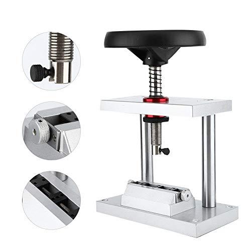 Apriscatole da banco a chiusura efficiente Apriscatole da banco professionale per orologi Anti-corrosione con materiale in lega per riparatori di orologi