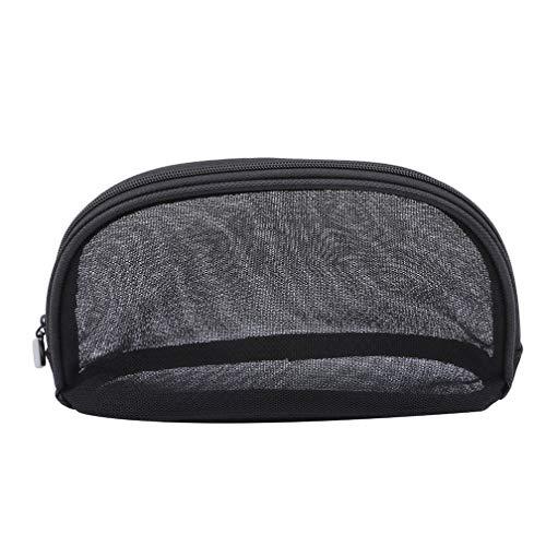 LJSLYJ Transparent Mesh Cosmetic Bag Sac de Voyage Organisateur Essential Beauty Pouch, S