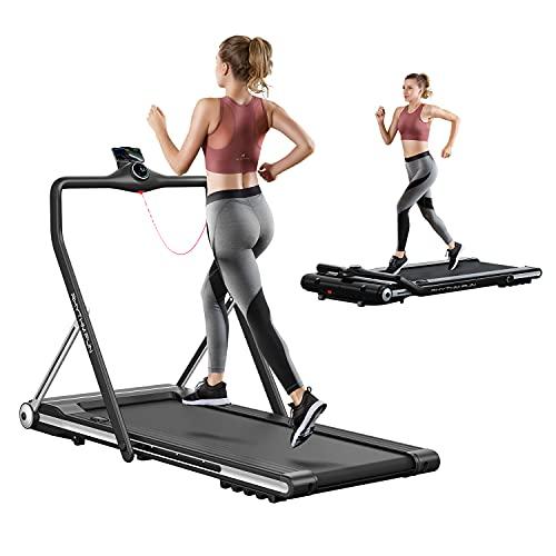 RHYTHM FUN Treadmill Folding Running Treadmill Under Desk...