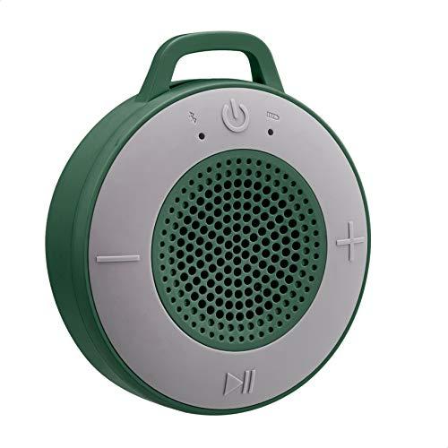 Amazon Basics Kabelloser Dusch-Lautsprecher mit 5-W-Treiber, Saugnapf, eingebautem Mikrofon, Grün
