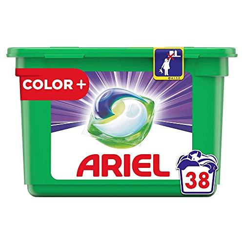 Ariel Waschmittel Pods All-in-1, Color Waschmittel, 38 Waschladungen, Frischer Wäscheduft und Farbschutz