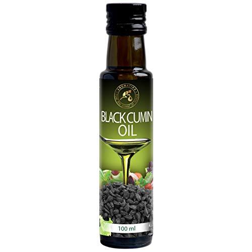 Aceite de Comino Negro 100ml - 100% Puro - Prensado en Frío - Alemania - Botella de Vidrio - Omega 3 6 9 - Cocina Saludable - Suplemento Nutricional Ideall