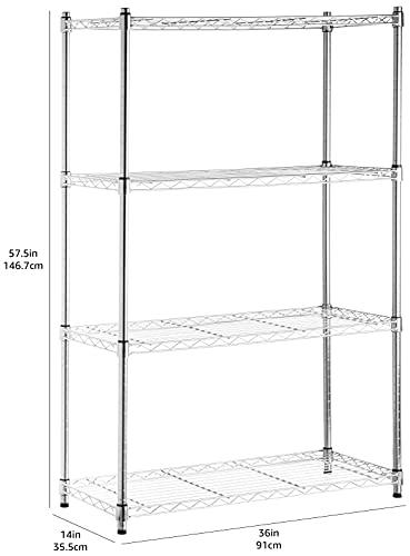 Amazon Basics - Estantería de 4 baldas,...