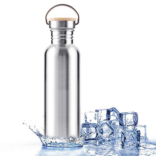 Whiie891203 350/500/750 ml isolierte Edelstahl-Wasserflasche Büro Thermo-Wasserflasche Vakuumflasche Trinkflasche Sport Reise Flasche Becher für Outdoor Sport Wandern Laufen, 1, 350ml