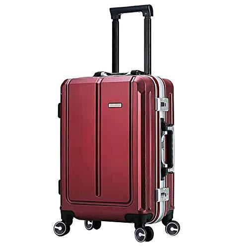WODENINEK Vintage Bagage koffer Hard Shell 20 ''(55cm 3.6kg) 24''(66cm 4.6kg) Handig Universeel Wiel voor werk Travel Trolley Case