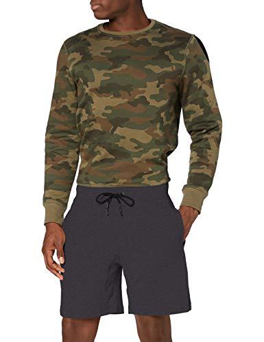 Urban Classics Interlock Sweatshorts Pantalones Cortos Deportivos, Gris (Charcoal 91), L para Hombre