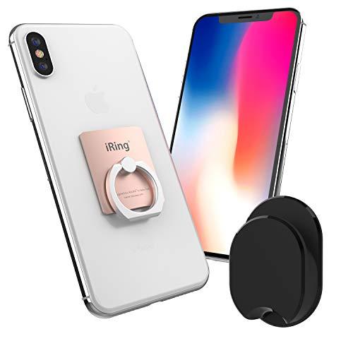 iRing Premium ROSE GOLD- DAS ORIGINAL, UNIVERSAL Smartphone Ständer, Haltegriff und Autohalterung, Selfie Ständer, Handy Ring, Handyhalterung Auto, Kfz Halterung, Style Ring für iPhone 6/ 6Plus/ 6s, Galaxy 5/ S6/ Note, Sony Xperia Z5, LG G4/ Nexus 5X, Huawei G8/ P8, HTC One A9/ M9/ Desire (Rose Gold)