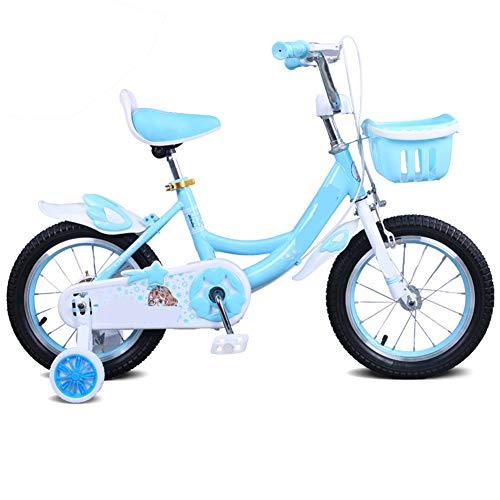 LFFME Bicicletas Infantiles con Guardabarros, Ruedas Auxiliares Y Canasta Desmontable, para Niñas Y Niños De 3 A 8 Años, Ruedas De 12, 14 Y 16 Pulgadas,B,16