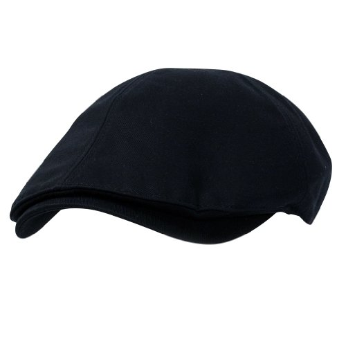 ililily Cotton Flat Cap Cabbie Hut Gatsby Ivy Cap Irish Hunting Hut Newsboy (flatcap-004-2)