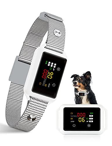 Collar Anti-ladridos, Collar Inteligente para Detener ladridos, Collar Seguro Impermeables Anti-ladridos con vibración de Sonido, Collar Recargable de Perros, para Perros pequeños medianos Grandes