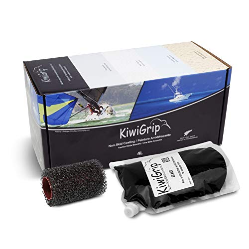 KiwiGrip KG10174R Revestimiento Antideslizante, Negro, 4 L