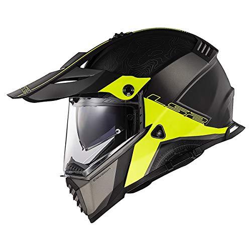 LS2 Helmets Blaze Elevation Adventure Helmet (Black/HiViz - X-Large)