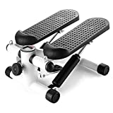CANQI Fitness Gym Machine Mini Stepper Stepping Legs con Bandas De Resistencia, Arm Cords Stair Climber Gym Step Swing (Negro)