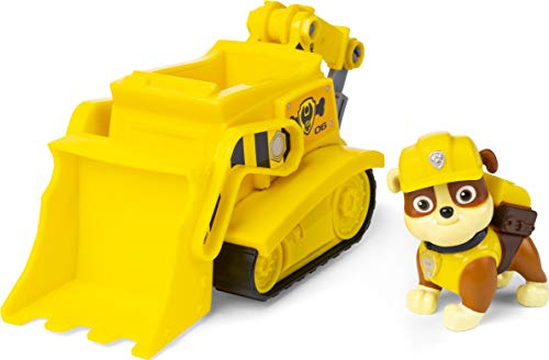 Paw Patrol, Rubbles Bulldozer Vehicle with Collectible Figure, for Kids Aged 3 and Up