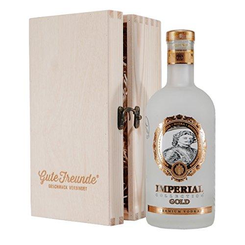 Ladoga Imperial Gold Vodka mit Geschenk-Holzkiste