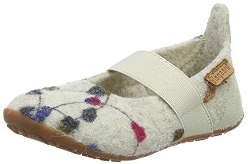 Bisgaard Mädchen Wool Ballet Slipper, Weiß (171 Creme-Flowers), 35 EU