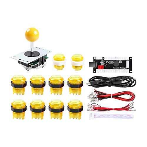 Hikig Arcade DIY LED Kit, Zero Delay USB Encoder + 8 Way Joystick + 5V...
