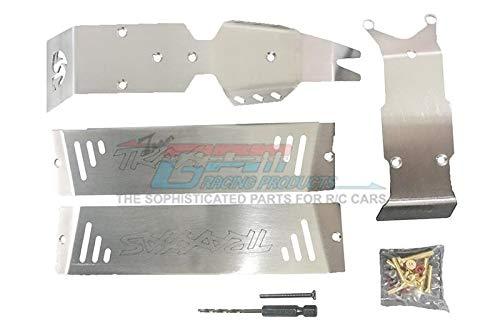 G.P.M. Traxxas E-Revo 2.0 VXL Brushless (86086-4) Stainless Steel Skid Plates For Front, Center, Rear Chassis - 24Pc Set
