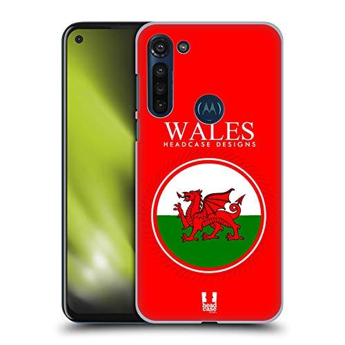 Head Case Designs Fahne Von Wales Fahne Flicken 2 Harte Rueckseiten Huelle kompatibel mit Motorola Moto G8 Power