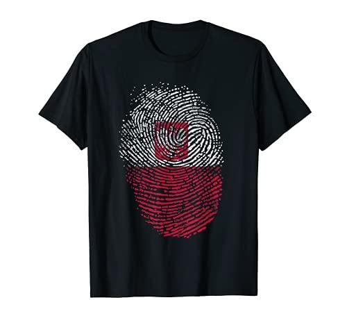 Polen Flagge Geschenk Fingerabdruck T-Shirt