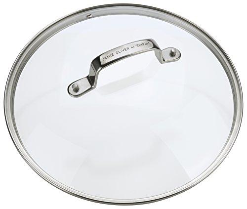 Tefal E996 Jamie Oliver glazen deksel 24 cm, transparant