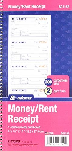 Adams Recordkeeping Blank Receipt Form (SC1152PK)