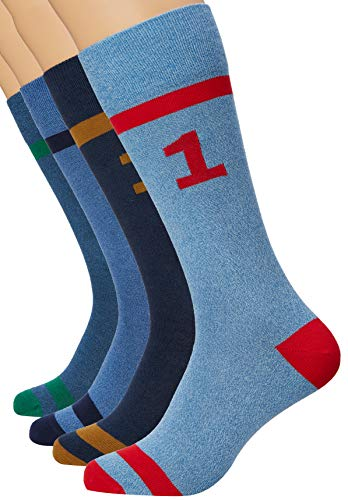 Hackett London Herren Socken Number Band 4 Box, Blau (Navy 595), One Size (Herstellergröße: 000)