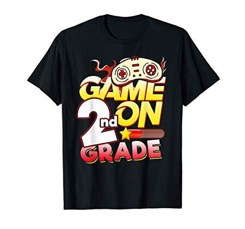 2nd Grade Teacher & Student - Game On Video Controller Shirt T-Shirt