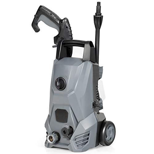 Goplus Electric Pressure Washer, 2030PSI Portable High Power Washer w/Nozzle, Soap Bottle, Spray Gun