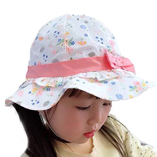 Snyemio Bambina Cappello da Sole Bucket in Cotone Estivo da Spiaggia Stampa Floreale