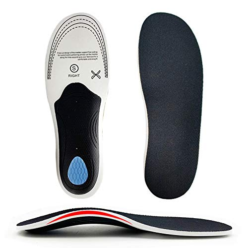 Orthotic Inserts, Full Length Arch Support Insoles for Men Women, Professional Shoe Inserts for Plantar Fasciitis Pronation Flat Feet High Arch Heel Spurs Pain Relief Comfortable for Running Exercise