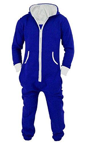 Nicetage Unisex Christmas Jumpsuit Romper Hooded Onesie Pajamas Family Set Blue XL