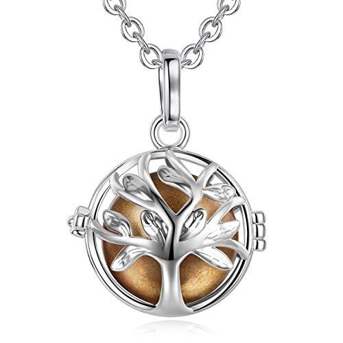 Eudora Harmony Ball Colgante el árbol de la vida, llamador de angeles embarazada, Collar Música Timbre Bell Mujeres Joyas El mejor Regalo para Niñas, Damas, Profesor, Madres y Hermanas