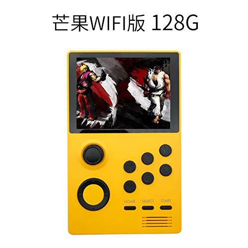 Gecfun Pandora's Box Arcade PSP Mini Consola De Juegos Portátil Gba Máquina De Mano De Código Abierto La Máquina De Lucha Retro Puede Conectarse Bluetooth WiFi Battle Puede Emitir Pantalla Yellow-32G