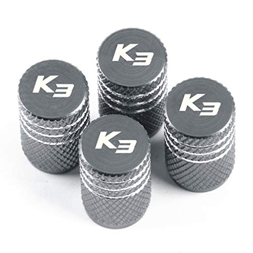 INNJIEW Aluminum New Wheel Tires Valves Tyre Stem Air Valve Caps Car Styling,Fit For Kia K3 Forte