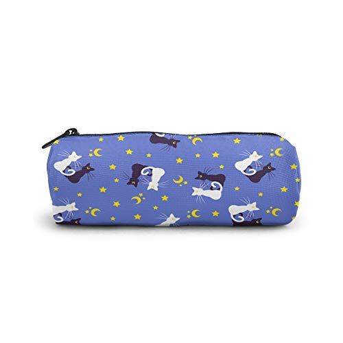 Large Capacity Storage Pouch Marker Pen Pencil Case Sailor Moon Kitties Stationery Bag for School Office College Student