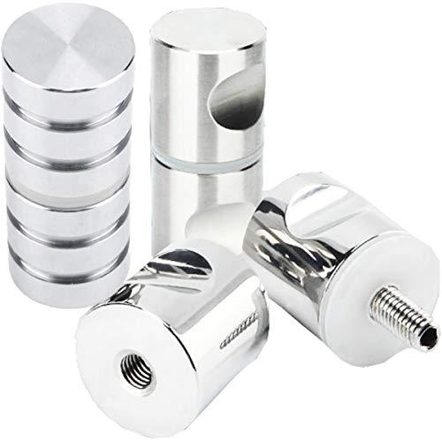Biluer 3 Stück Duschtürknopf Edelstahl Duschtürgriff Aluminiumlegierung Duschgriff Verchromter Zuggriffknopf für einzelne Glastür Knob Badezimmer Duschkabine (30 mm)